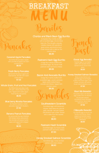 Yellow Breakfast Menu Template