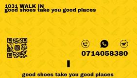 yellow business card back Carte de visite template