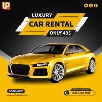 Yellow Car Ads Vierkant (1:1) template