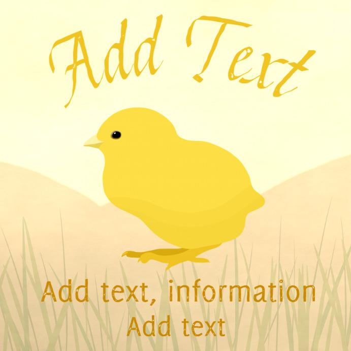 yellow chicken instagram customizable template