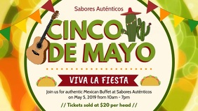 Yellow Cinco de Mayo Bar Event Invitation