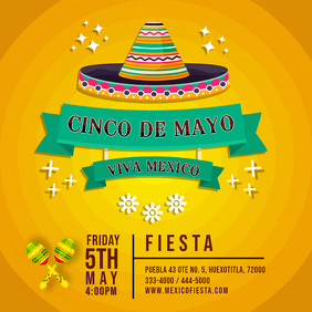 Yellow Cinco de Mayo Fiesta Invitation