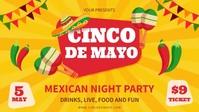 Yellow Cinco de Mayo Fiesta Party Invitation template