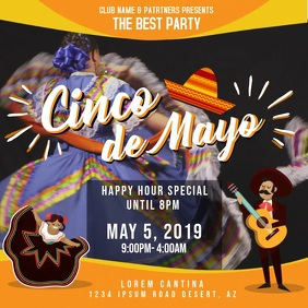 Yellow Cinco de Mayo Party Invitation
