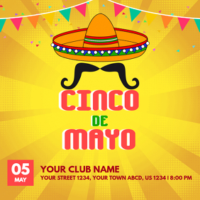 Yellow Cinco de Mayo Template
