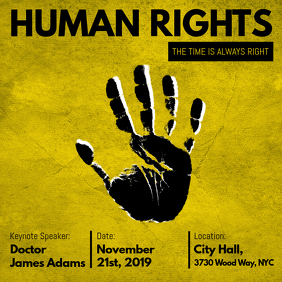Yellow Civil Rights Ad Template