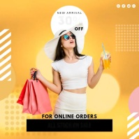 Yellow Clothes Sale Retail Advertisement Slid