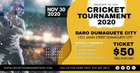 Yellow Cricket Competition Event Tickets Adve delt Facebook-billede template