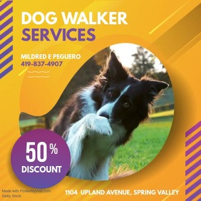 Yellow Dog Walker Service Video Ad
