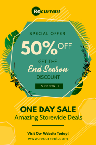 Yellow End Season Sale Poster