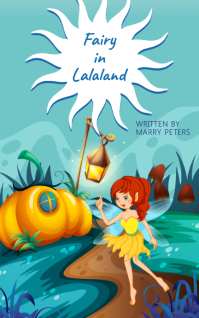Yellow Fairy and Magic Wand Book Cover Templa