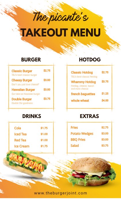 Yellow Fast Food Restaurant Takeout Delivery VSA Wetlik template