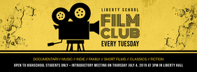 Yellow Film Club Online Registration Banner