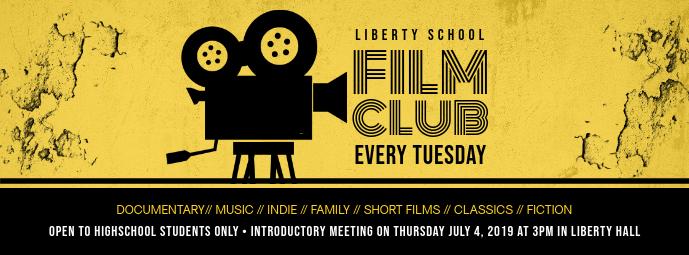 Yellow Film Club Online Registration Banner