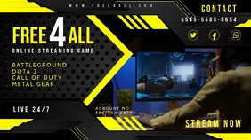 Yellow Game Streamer Twitch Banner