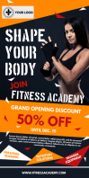 Yellow Gym Ad Roll up Banner