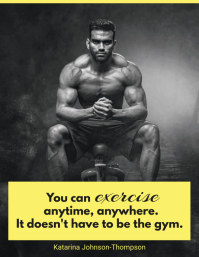 Yellow Gym Motivation Poster