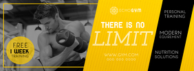 Yellow Gym Training Facebook Cover Photo