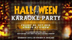 Yellow Halloween Karaoke Party Video Template