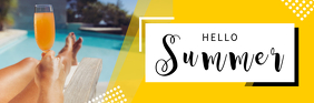 Yellow Hello Summer Email Header ส่วนหัวอีเมล template