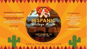 Yellow Hispanic Heritage Event Invitation Vid
