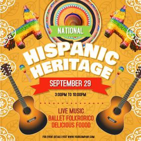 Yellow Hispanic Heritage Festival Instagram Image