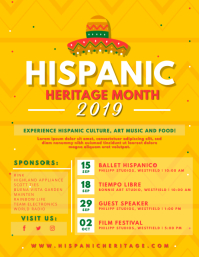 Yellow Hispanic Heritage Month Flyer