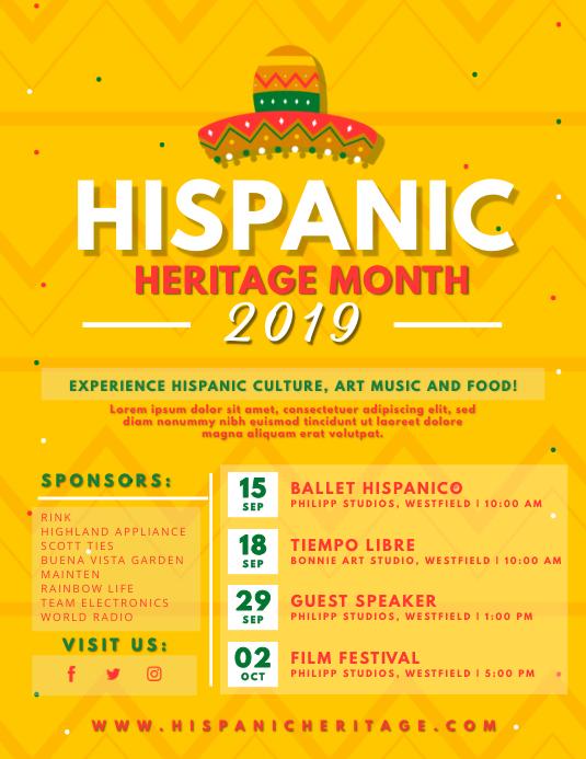 Yellow Hispanic Heritage Month Flyer