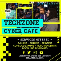 Yellow Internet Cafe Service Instagram Post T template