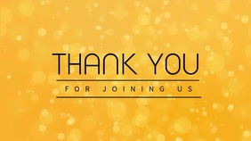 Yellow Church Thank You Video Template