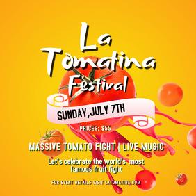 Yellow La Tomatina Square Image