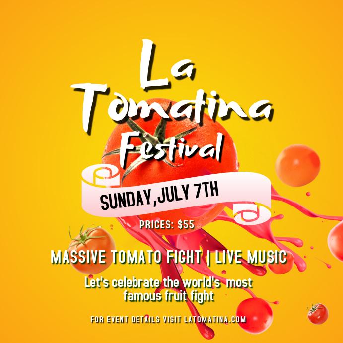 La Tomatina Flyer Templates | PosterMyWall
