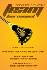 Yellow Lacrosse Poster Templates