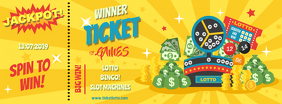 Yellow Lottery and Raffle Ticket Design