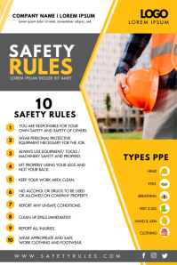 Yellow Modern Construction Site Safety Flyer