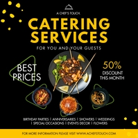 Yellow Modern Food Catering Service Instagram template