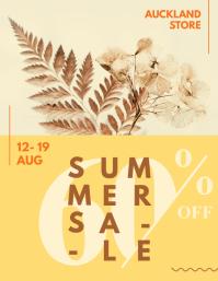 Yellow Modern Sale Poster