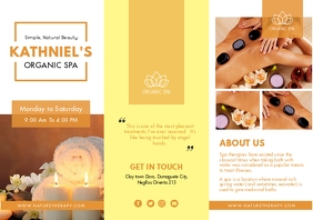 Yellow Modern Spa tri-fold Brochure