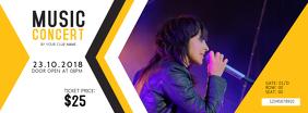 Yellow Music Concert Pass Template