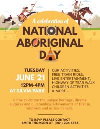 Yellow National Aboriginal Day Event Flyer template