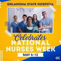 Yellow National Hospital Week Instagram Video template