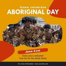 Yellow National Indigenous Day Invitation Ins Instagram Post template