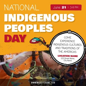 Yellow National Indigenous Day Square Video template