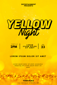 Yellow Night Party Flyer Design Template