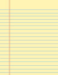 Yellow Notebook Paper Background