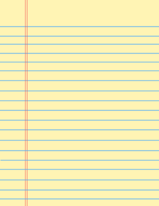 copy of yellow notebook paper background