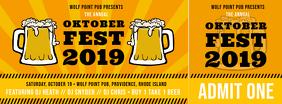 Yellow Oktoberfest Ticket Template