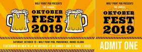 Yellow Oktoberfest Ticket Template Facebook Cover Photo