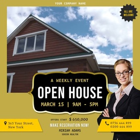 Yellow Open House Online Ad