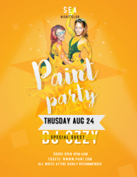 Yellow Paint Party Flyer
